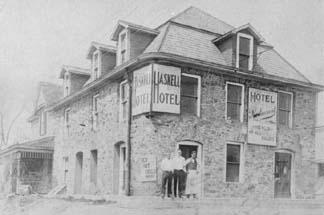 Haskell Hotel: (L to R) Wm. Van Orden, Howar Saundry, and Wm. Specht.