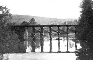 Original Wanaque trestle before metal structure was built.