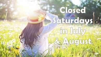 Library closed Saturdays through Labor Day
